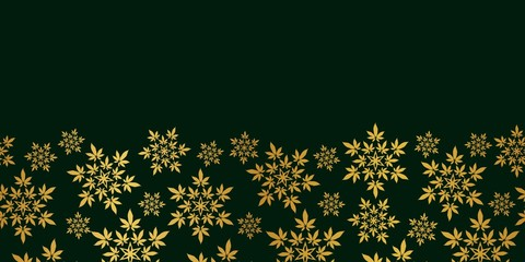 Cannabis leaf border seamless vector pattern background