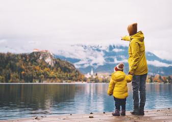 Family Travel Bled Lake, Slovenia, Europe.