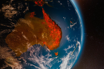 Ecological disaster of fires in Australia Fotomurales
