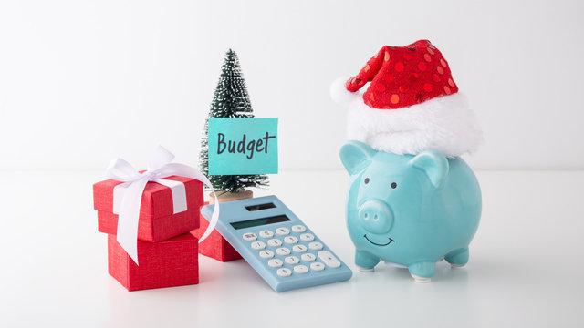 Christmas budget concept