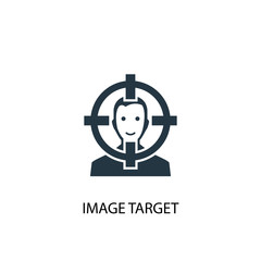 Image Target icon. Simple element illustration
