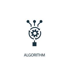 Algorithm icon. Simple element illustration