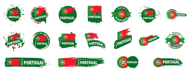 Portugal flag, vector illustration on a white background Fotomurales