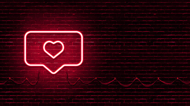 Neon Glowing Like Button For Social Media On Brick Wall Neon Instagram Like Icon Illustration Buy This Stock Illustration And Explore Similar Illustrations At Adobe Stock Adobe Stock