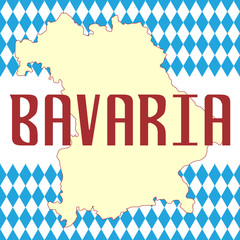 Germany, Bavarian map isolated vector in official flag colors. High detailed vector map - Bavaria/Bayern, silhouette illustration isolated. Province in Germany.