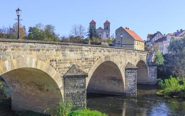 Gothic bridge in Bardo, Silesia, Poland