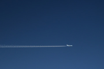 airplane in the sky - KLM airline