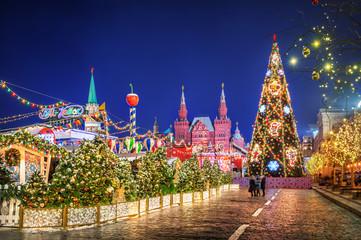 Новогодняя ель на Крас Площади Christmas tree on Red Square