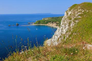cliffs near lulworth, beautiful coast
