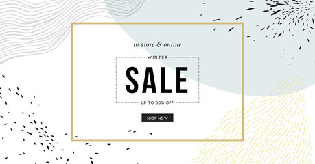 Sale header or banner with space for text on abstract background.  Wall mural