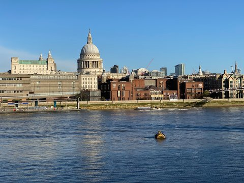 St Paul's Cathedral seen from across the Thames