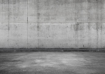Empty parking lot, concrete interior Fotobehang
