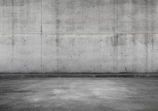 Empty parking lot, concrete interior