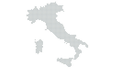 italy map vector, isolated background. Flat Earth, gray map template for web site pattern, anual report, inphographics. Map icon. Travel worldwide, map silhouette backdrop