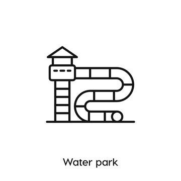 water park icon vector symbol sign