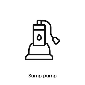 sump pump icon. sump pump icon vector. Linear style sign for mobile concept and web design. sump pump symbol illustration. vector graphics - Vector