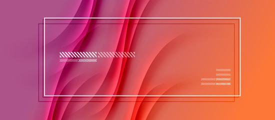 Trendy simple fluid color gradient abstract background with dynamic wave shadow line effect. Vector Illustration For Wallpaper, Banner, Background, Card, Book Illustration, landing page