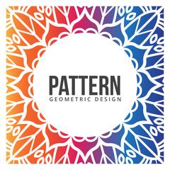 Colorful Mandala Background, Geometric Design, Vintage Images