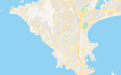 Printable street map of Dakar, Senegal