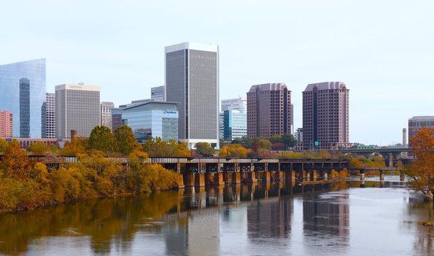 Richmond, Virginia in Autumn 2019, James River