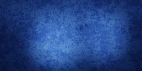 Blue sapphire vintage texture wall scratch blurred stain. Wave marble website banner design soft light center. 3D rendering