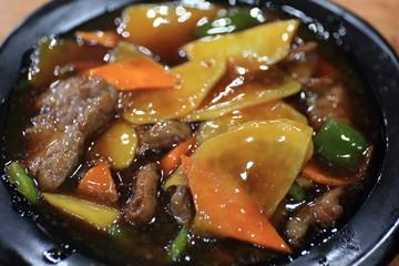 中国の上海で食べた五目ラーメンの写真