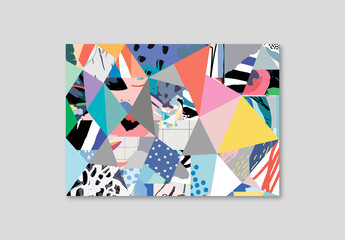 Modern Poster Layout of Abstract Colorful Shapes