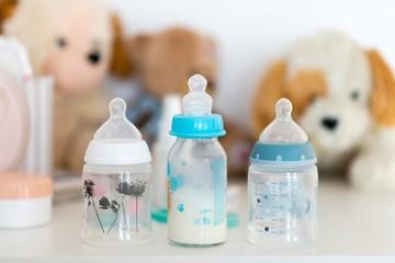 baby milk bottle isolated