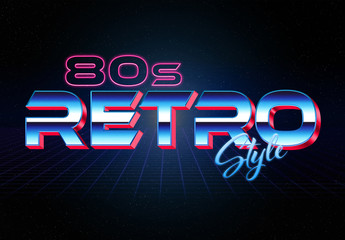3D 80S-Style Retro Text Effect