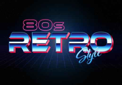 3D 80S-Style Retro Text Effect