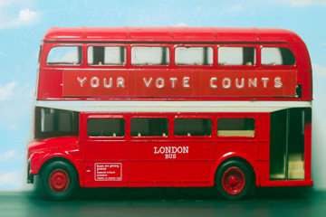 your vote counts  red bus