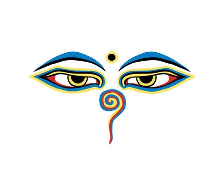 Vector buddha eyes on white background