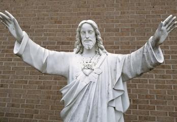 Jesus blessing the masses
