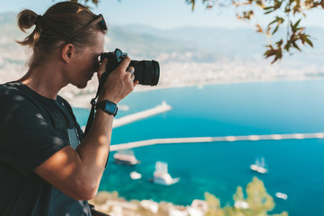 Phototgrapher making pictures of amazing landscape