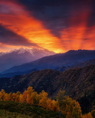Wall Mural - Majestic colorful sunset