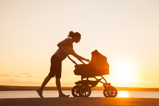 Mother with a stroller