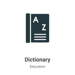 Dictionary vector icon on white background. Flat vector dictionary icon symbol sign from modern education collection for mobile concept and web apps design.
