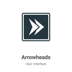 Arrowheads vector icon on white background. Flat vector arrowheads icon symbol sign from modern user interface collection for mobile concept and web apps design.