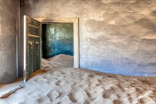 Interior of abandoned house, Kolmanskop, Karas, Namibia