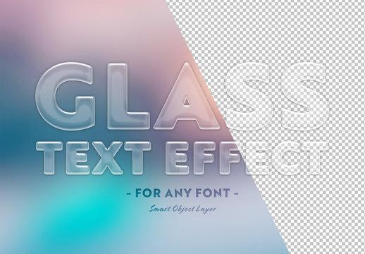 Transparent Glass Text Effect