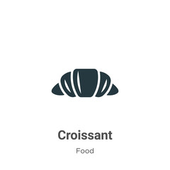 Croissant vector icon on white background. Flat vector croissant icon symbol sign from modern food collection for mobile concept and web apps design.