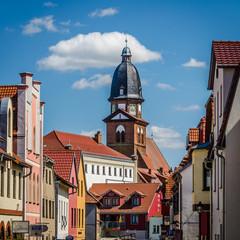 Waren (Müritz) Altstadt mit Marienkirche