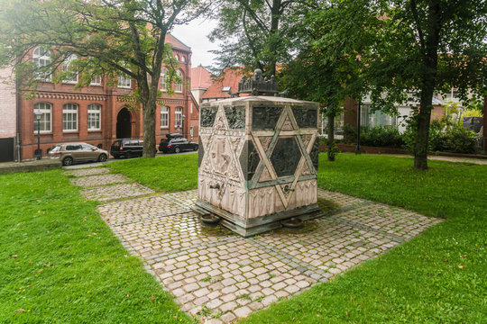 The monument of the synagogue in Lappenberg in Hildesheim