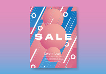 Sale Poster Funky Space Sale Symbol