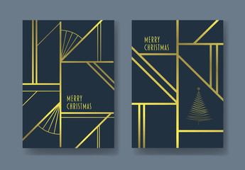 Art Deco Christmas Card Layouts