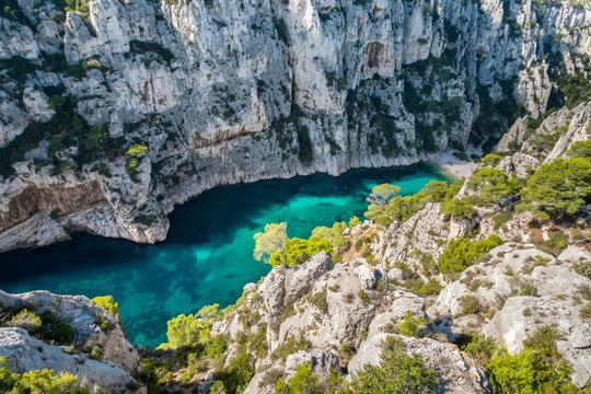 View of Calanque d'En-Vau, Cassis, Provence-Alpes-CÙte d'Azur, France