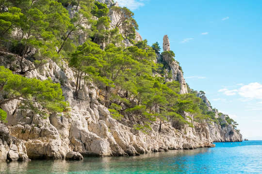 Mediterranean landscape at Calanque d'En-Vau, Cassis, Provence, France