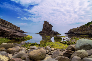 "Rock formation ""The ships "" Sinemorets village, Black Sea, Bulgaria.."
