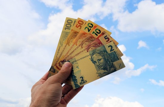 Cédulas Moeda Real Brasil Metalizadas 2 reais 5 reais 10 reais 20 reais 50 reais 100 reais