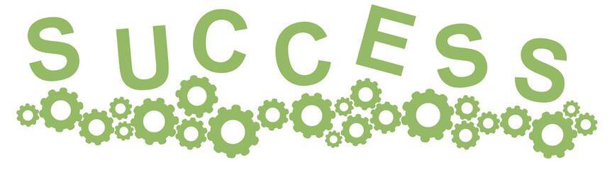 Success - succeeded - cog - cogwheel - machine - machine of success